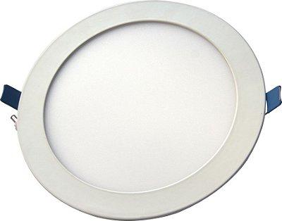 Luminária Painel Slim Embutir 18W LED REDONDO Bivolt CRISTALLUX