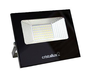 REFLETOR LED SMD MICROLED 30W - CRISTALLUX - LUZ BRANCA NATURAL, LUZ BRANCO QUENTE OU VERDE