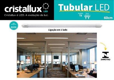 KIT 25 UNIDADES lâmpada Tubular T8 60 cm 9w CRISTALLUX - 1050 lumens