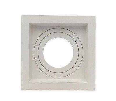 Spot Embutido teto para lâmpada Dicroica MR16  Quadrado Recuado Branco Save Energy