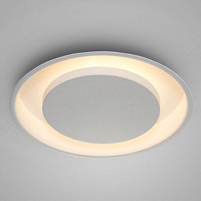 Luminária decorativa embutir Eclipse redonda 30cm diâmetro - Utiliza 2 lâmpadas bulbo vendidas separadamente