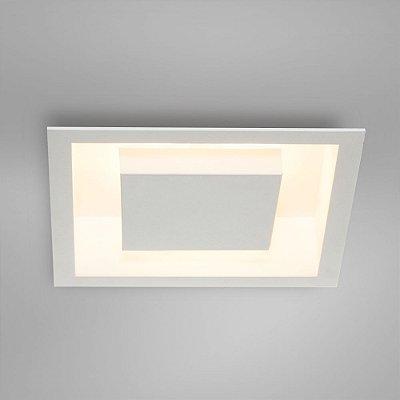 Luminária decorativa de embutir Eclipse Itamonte 30cm x 30cm -Utiliza 2 lâmpadas bulbo led vendidas separadamente
