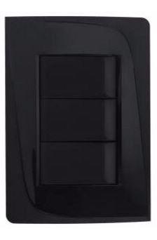 Linha 50.000 Pezzi Tendenza - Cor preta - Encomende seu kit de placas, interruptores e tomadas