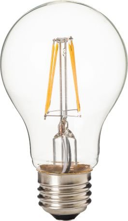 Lâmpada Bulbo Led Filamento A60 -  E27 - 4W - 2700k Branco Quente - Cristallux - INMETRO