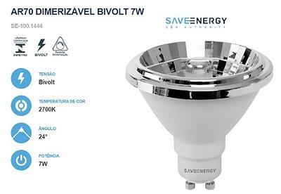 LÂMPADA AR70 DIMERIZÁVEL BIVOLT 7W - SAVE ENERGY