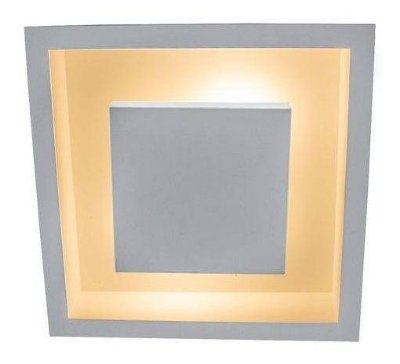 Plafon embutir rebatedor luz indireta para lâmpada bulbo led - 30cm x 30cm