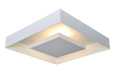 Plafon sobrepor rebatedor luz indireta para lâmpadas bulbo led - não inclusas - 30cmx 30cm