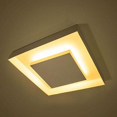 Plafon sobrepor rebatedor luz indireta - para lâmpadas bulbo led - não inclusas - 40cm x 40cm