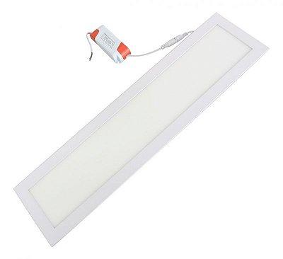 Luminária Slim Embutir 36w 15x60 Retangular - Cristallux