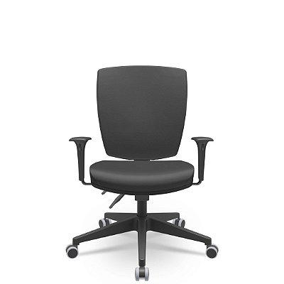 Cadeira Giratoria Diretor Altrix Back Plax Base Piramidal Rev.Couro Ecológico - Plaxmetal