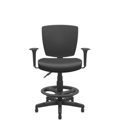 Cadeira Caixa Executiva Altrix Giratoria Estrutura Fixa Rev.Couro Ecológico - Plaxmetal