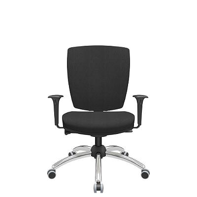 Cadeira Giratoria Diretor Altrix Autocompensador Base Cromada Rev. Poliéster - Plaxmetal