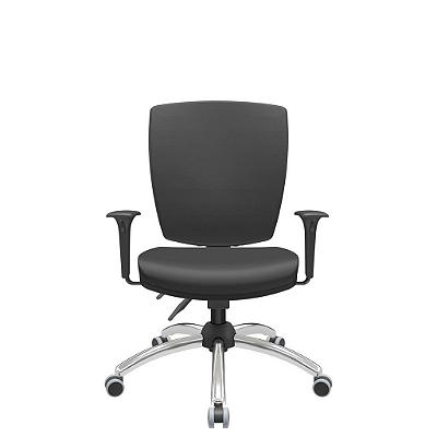 Cadeira Giratoria Diretor Altrix Back Plax Base Cromada Rev.Couro Ecológico - Plaxmetal