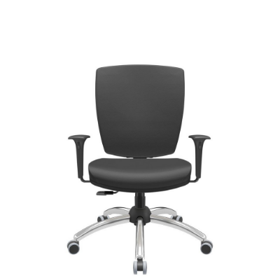 Cadeira Giratoria Diretor Altrix Relax Base Cromada Rev. Couro Ecológico - Plaxmetal