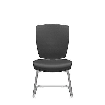 Cadeira Fixa Base S D Altrix sem Braço Couro Ecológico - Plaxmetal