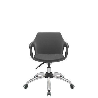 Cadeira Vesper Giratória Base Stamp Cromada - Plaxmetal