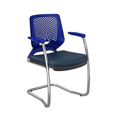 Cadeira Fixa Beezi Aproximação Plaxmetal Base Cromada S