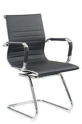 Cadeira Eames Diretor Fixa Cromada