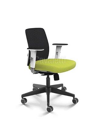 Cadeira Giratoria Diretor Idea 40202 - Syncron - Encosto Space - Braços ID - Cavaletti