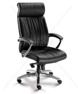 Cadeira Para Escritório Presidente Prime 20201 - Couro Natural - Base Alumínio - Cavaletti