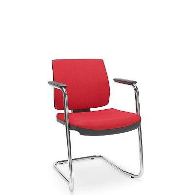 Cadeira Plaxmetal Aproximação Fixa Brizza Soft - Base Cromada S