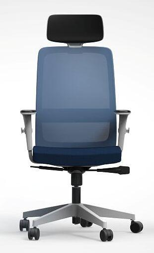 Cadeira Presidente Vélo 42101 AC Syncron - Braços ID - Base Nylon Cinza - Rod Nylon 65 Cavaletti