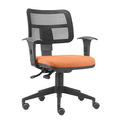 Cadeira Executiva Tela Ergonomica Com Back System Base Piramidal ZIP Plaxmetal