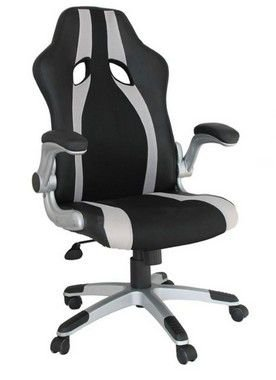 CADEIRA OFFICE GAMER RIVATTI PRETO/CINZA