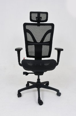 Poltrona Presidente Plaxmetal Darix Tela Base Nylon Slider Braços 3D