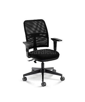Cadeira Executiva NewNet 16003 SL - Base Nylon - SRE -Certificada NR17- NBR 13962 Cavaletti