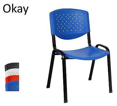 Cadeira Fixa Empilhável em Polipropileno Alta Resistência