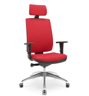Cadeira Presidente Brizza Soft Autocompensador Slider Base Alumínio Braços 3D PU - Plaxmetal