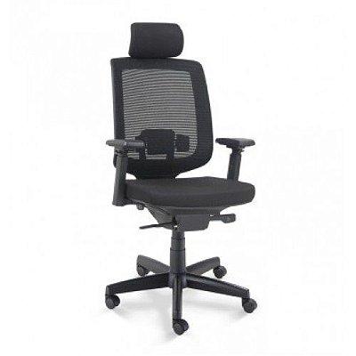 Cadeira Presidente C3 28001 AC Base Polaina - Syncron - Braços 4D - Cavaletti