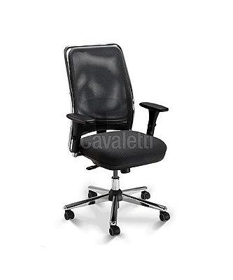 Cadeira Giratoria Presidente 16001 Syncron 3D Base Cromada Cavaletti NewNet