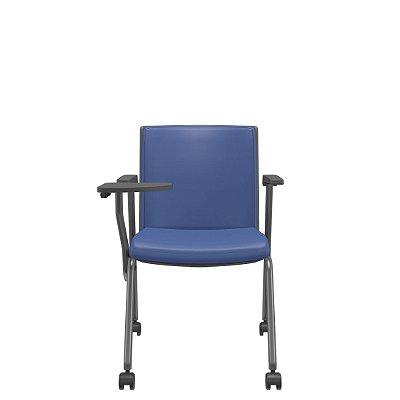 Cadeira Para Treinamento Com Prancheta Escamoteável Rodízios Audiplax