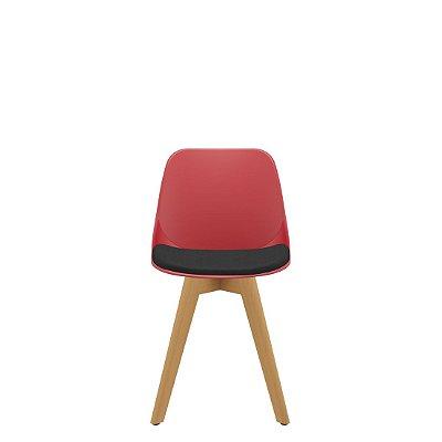 Cadeira Fixa 4 Pés de Madeira Quick Plaxmetal