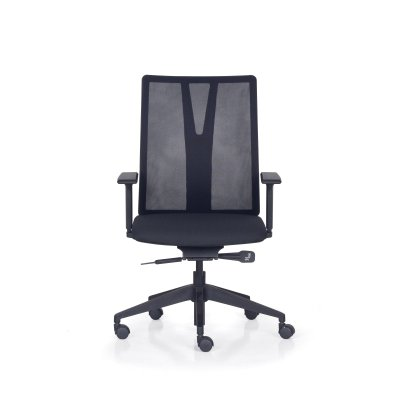 Cadeira Giratoria Presidente Addit  KADD72- Mecanismo Syncron - Base Piramidal Nylon  - Com Braço - Frisokar