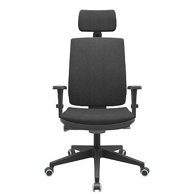 Cadeira Presidente Brizza Soft - Braços 3D PP - Autocompensador Slider - Base Piramidal - Plaxmetal