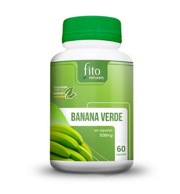 Banana Verde - 60 Cáps. - 500mg - Fito