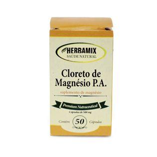 Cloreto de Magnésio PA - 50 Cáps. - 500mg - Herbamix