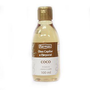Óleo Capilar  e Corporal - Coco - 100ml - Farmax
