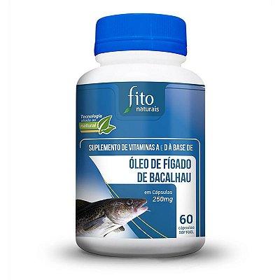 Óleo de Fígado de Bacalhau - 60 Cáps. - 250mg - Fito