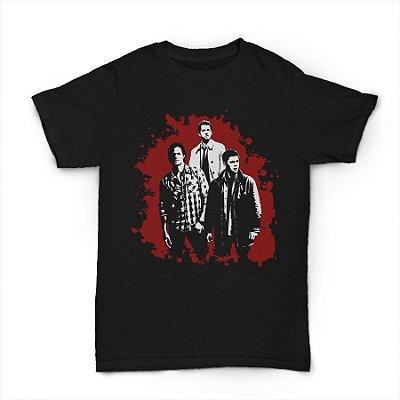 camiseta Sam,Dean E Castiel