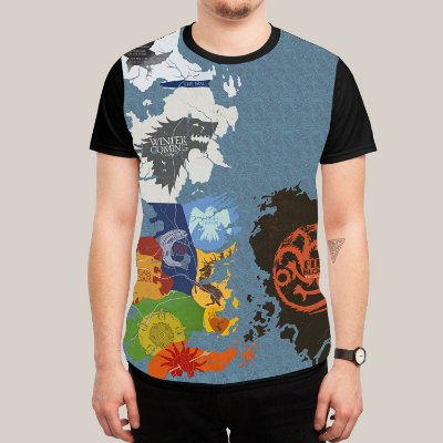 Camiseta Game of Trones Mapa
