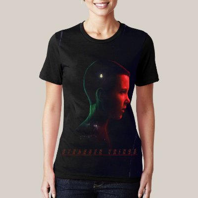 Camiseta Stranger Things Eleven Red n' Blue