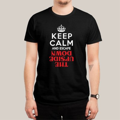 Camiseta Keep Calm Upside Down