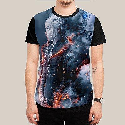 camiseta Daenerys e Rei da noite