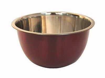 Bowl Vermelho 18cm Em aço Inox Fackelmann