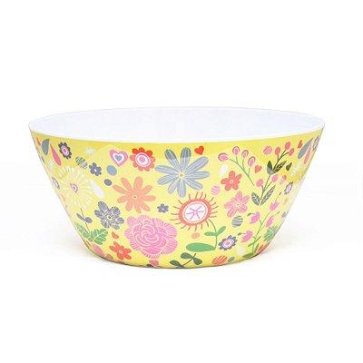 Bowl Florido Em Melamina Amarelo Rice