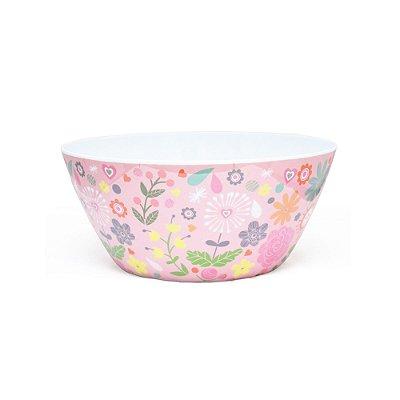 Bowl Florido Em Melamina Rosa Rice
